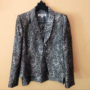 Printed Tahari Skirt Suit Set